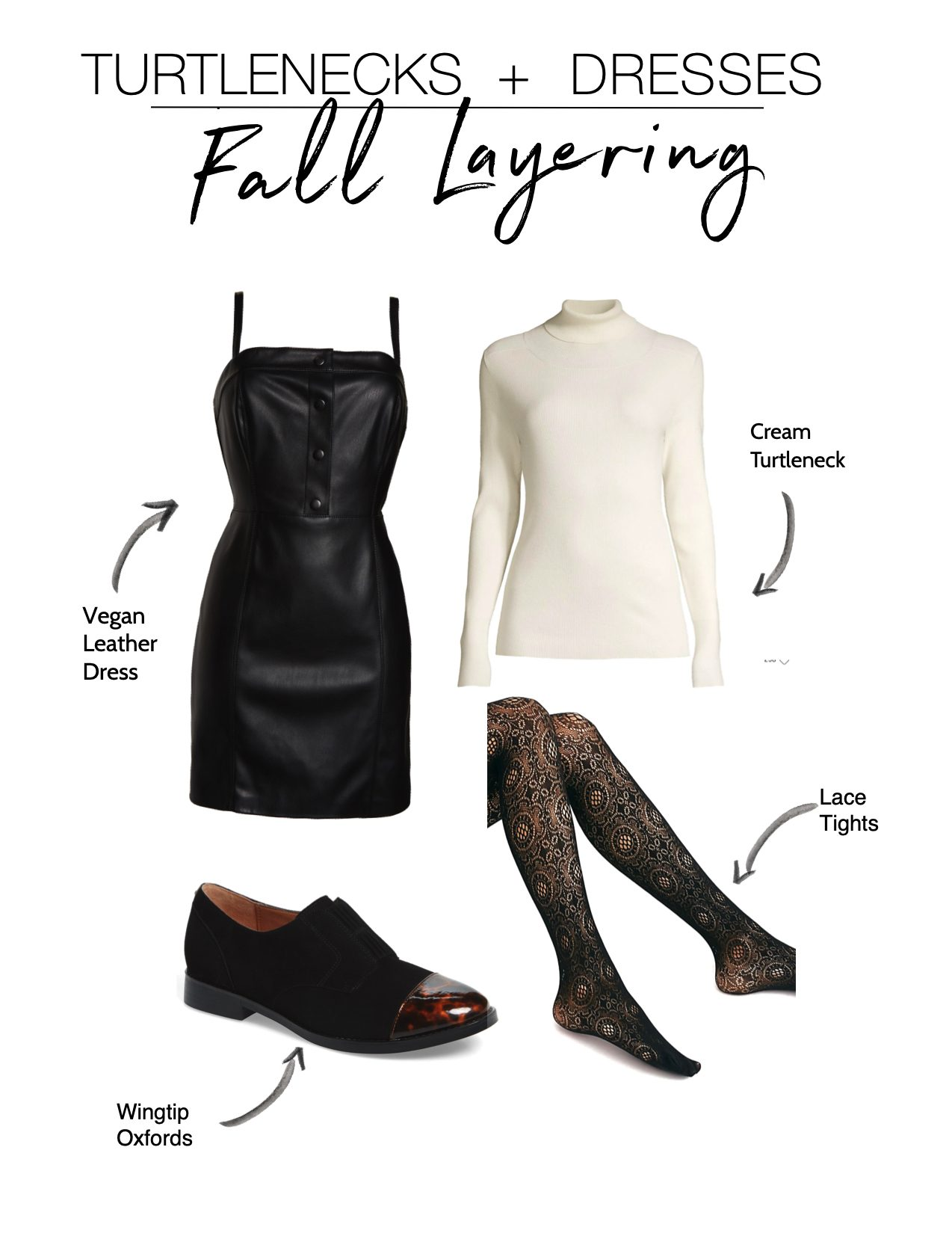 Dresses + turtlenecks has become my fav fall styling hack. All you need is a lil' layering skill & this fall outfit idea makes almost any dress wearable year-round.