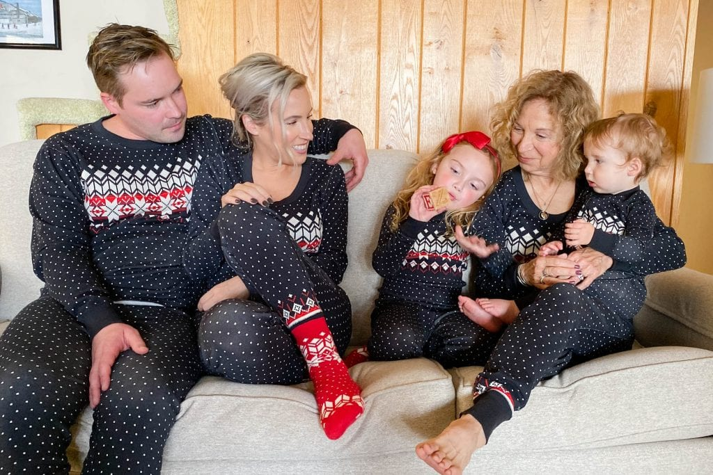 """Fam jams"" aka (matching family Christmas pajamas) are my fav. This set is organic cotton, ridiculously cute (obvi) & comfy enough to sleep in (& cook in, open gifts in, eat in, etc.,)."