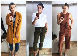 So...Anthro's got it going on right now. We're talking seriously cute plaid toppers, utility cords, off-the-shoulder sweaters, faux leather joggers...So Good!