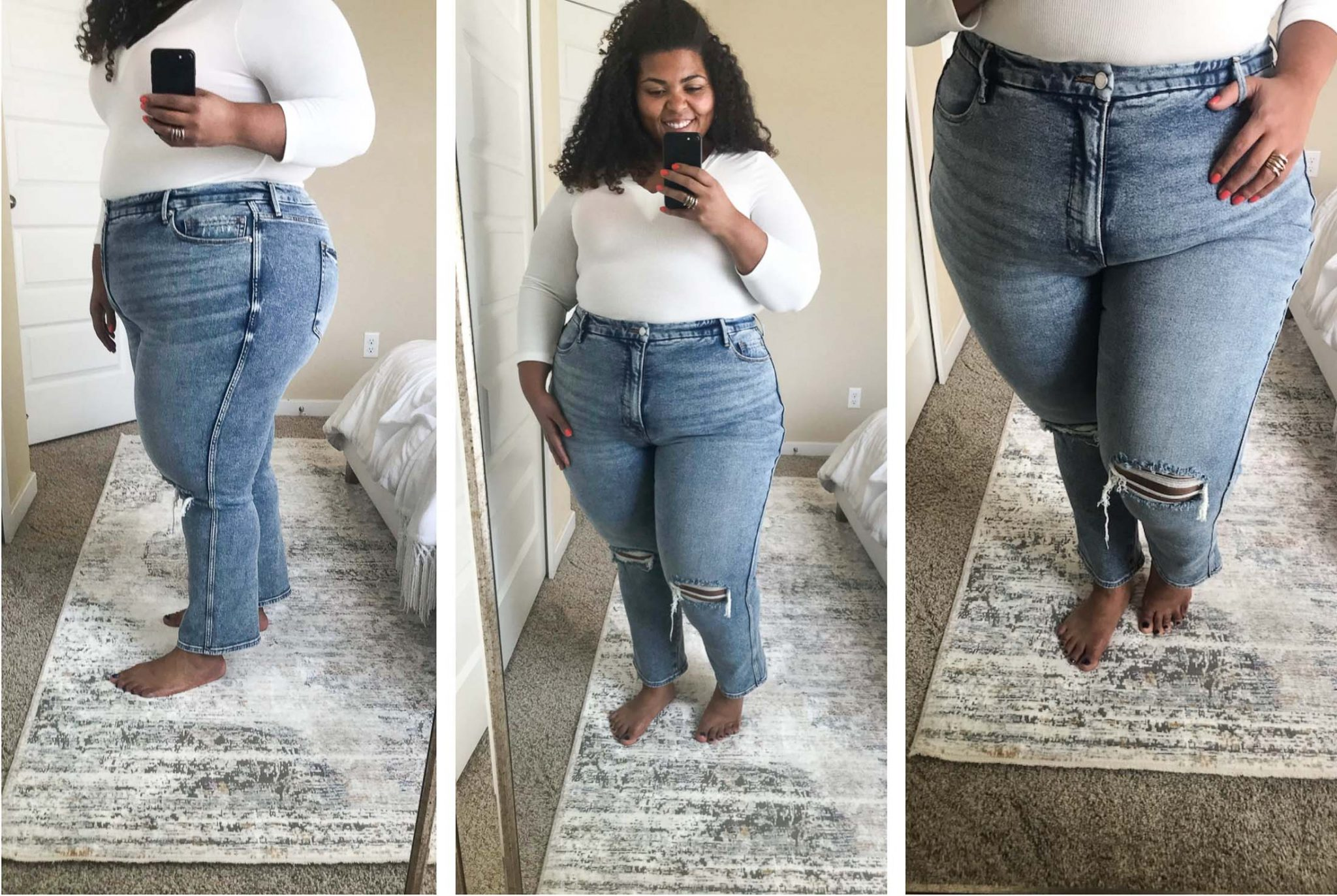 Good American Jeans Try On Sesh On Sale Now The Mom Edit