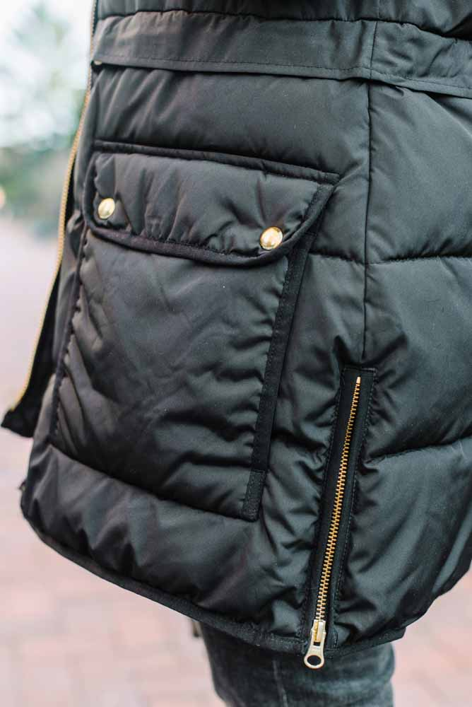 I found this J.Crew Puffer Jacket (made w/ eco-friendly PrimaLoft) searching for Orolay Puffer Jacket dupes. Nice price point, several colors & cool details. WIN.