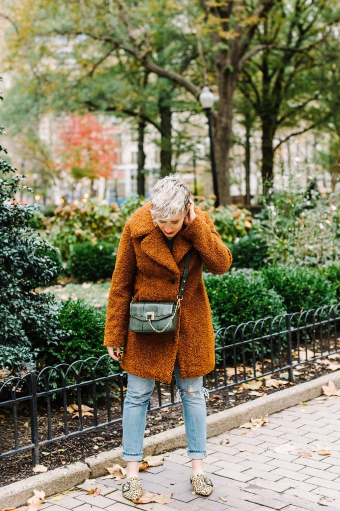 Stunning outfit upgrade formula: cozy coats & cute shoes. Think: teddy coats, plaid jackets, leopard mules (er, party flats) & sneaker boots. Let's go.