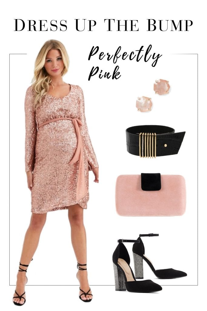 It's party season & we're dressing up the bump! We found some fun, elegant maternity party dresses for the holidays & styled 3 outfits. Shine, mamas!