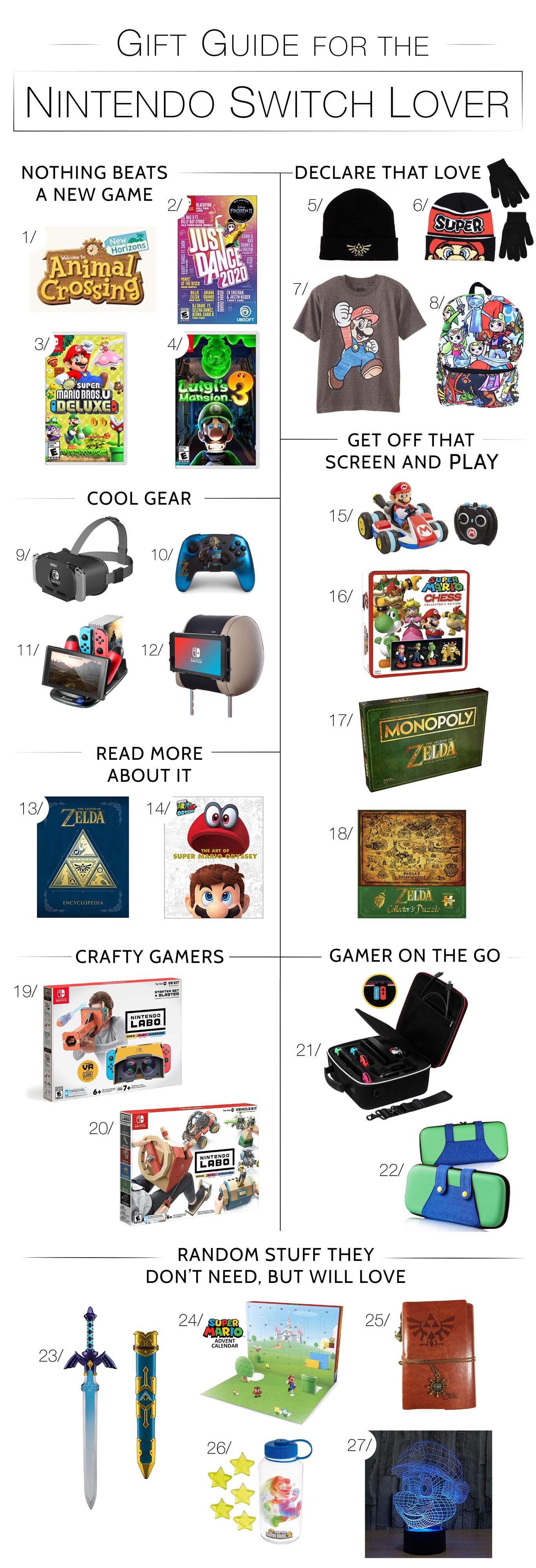 Shopping for the gamer obsessed with Nintendo Switch™? Us too. it's super-easy to bundle or create themed gift packages. Here's your list.