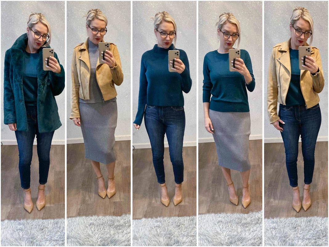 We ordered ALL the clothes from Banana Republic & ended up with a day-to-night mini capsule wardrobe....leopard, green, camel...here's our try-on sesh.