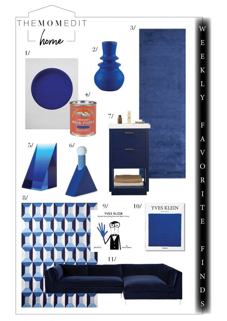 IKB (International Klein Blue) or Yves Klein Blue is arguably a perfect happy blue. Our fav home decor finds follow the spirit of (IK) blue & make us smile.