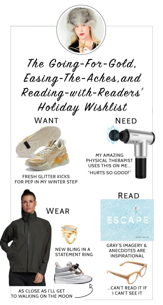 Something we want, something we need, something to wear, something to read. It's the ultimate holiday gift guide — our style editors' wishlists. Enjoy!