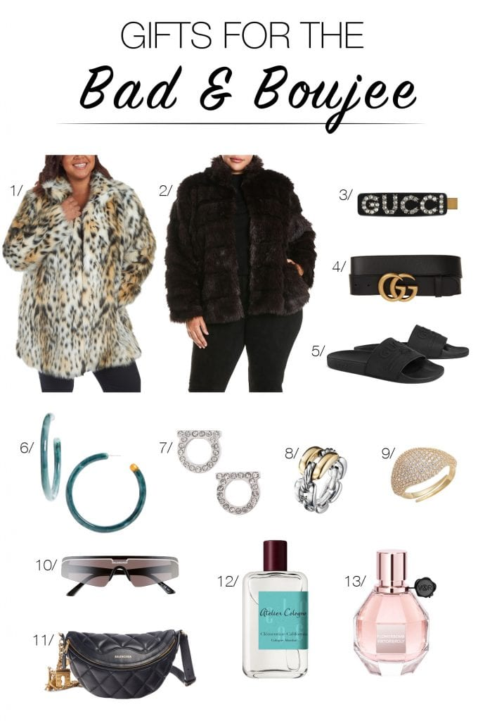 On it! Gifts for the label-loving, luxury-buying, bougie gals & guys on our holiday shopping list. A mix of fancy & reasonable options exuding bad & boujee.