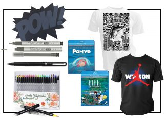 Have a comic book lover in your life (or someone looking to start drawing)? We've found uber-cool gift ideas for them (think drawing, drafting & swag).