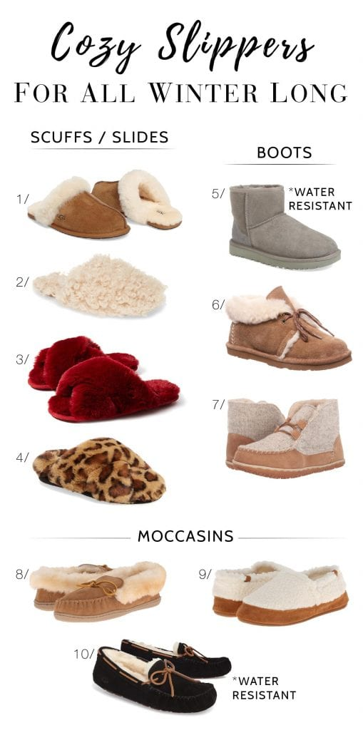 WHO DOESN'T WANT COZY FEET? Here's our roundup of 3 styles of our absolute favorite cozy slippers for winter & year-round + easy gifting & shopping.