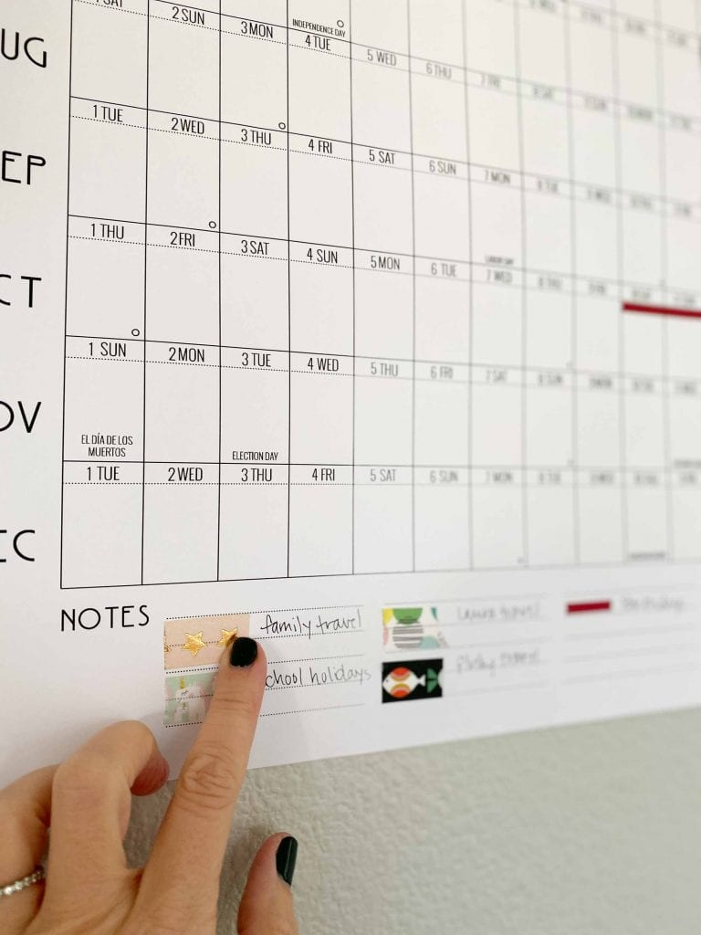 It's here! The 2020 version of our uber-useful, printable yearly at-a-glance calendar. With a little washi tape, this handy planner levels up home & office.