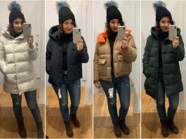 I LOVE my navy Uniqlo puffer. I've taken on the challenge of finding the PERFECT puffer & I took a trip for some #DressingRoomSelfies (8 cut coats, inside).