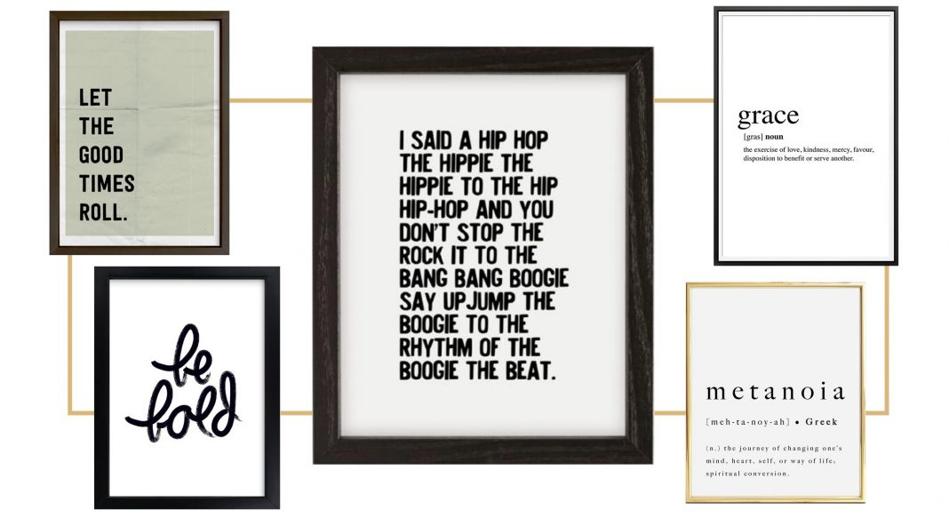 Our roundup of 10 words of wisdom-turned-wall art to keep us on track — & hello, 2020! — encouragement to stick to our New Year's resolutions. Yay!
