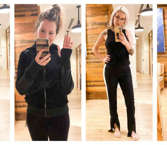 Athleta is ON POINT. Functional & seriously chic with fresh, modern colorways & some sustainable pieces. The fit is great — petite/regular/tall/plus-size — too.)