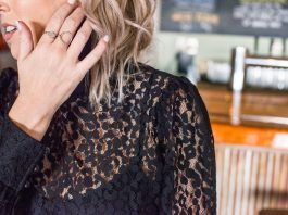 Styling up our best holiday outfit ideas. A festive lacy top easily dresses up a party outfit without trying too hard....You can still rock your fav jeans.
