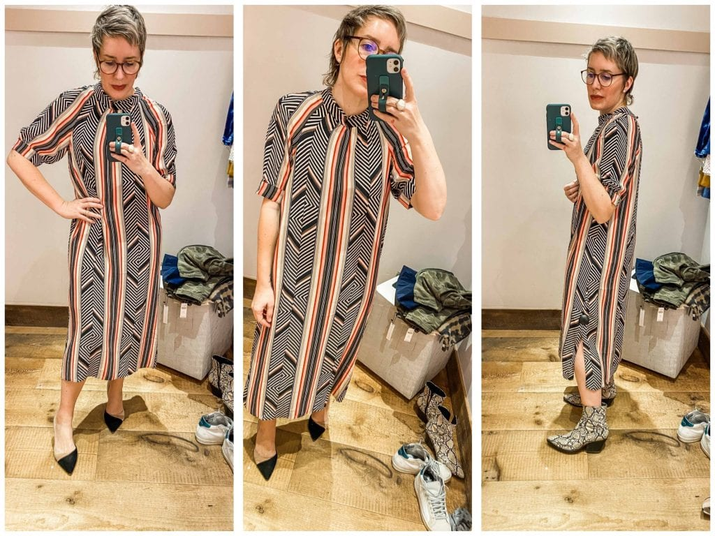 Anthro is nailing the sizes & styles our ❤️s desire. Cool winter-to-spring outfit pieces (think motos, prints & denim) + petite & plus-size — See what we tried.