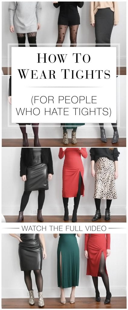 Think tights are an evil necessity? Or evil-y unnecessary? This how to wear tights video is for you. Different kinds of tights, how to wear 'em...we got you.