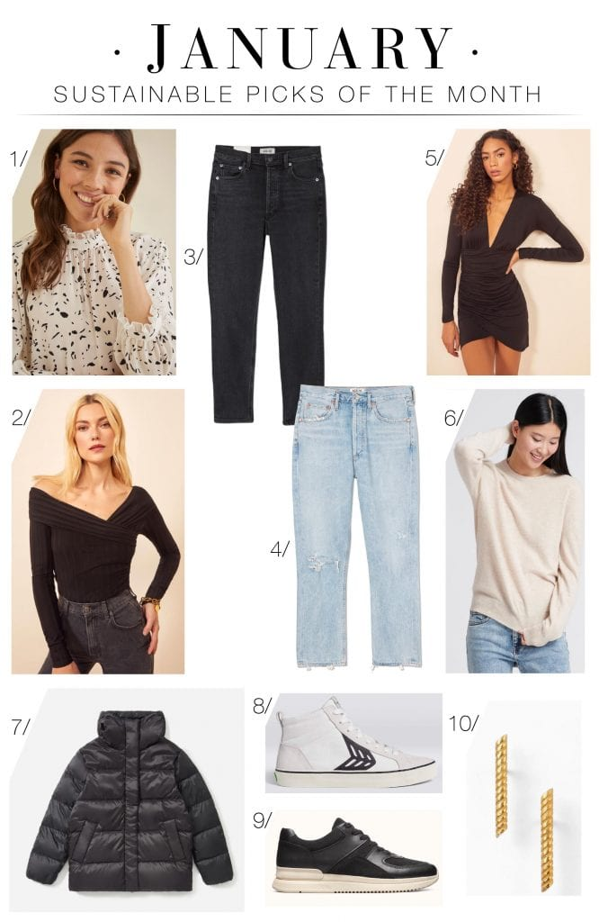 We've updated our top eco-friendly fashion brands on our Sustainable Style Page & we have some faves. See our top 10 women's fashion products right now.