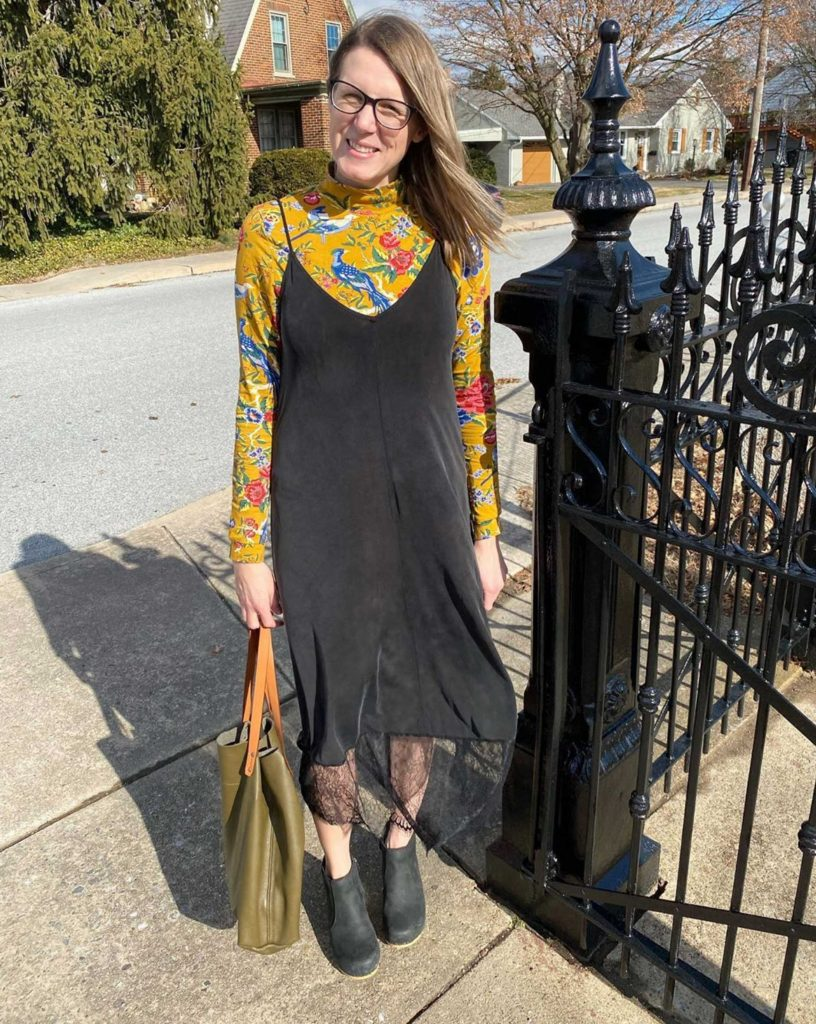 It's Slip Dress Style 101 for Week 2 of the #tmestylechallenge. We're layering slip dresses, pairing 'em w/ combat boots & making 'em comfy. Join us!