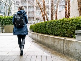 Our go-to rainy day outfit consist of 4 hardworking (yet cute!) pieces -- a stylish raincoat, cool jeans, rad combat boots & a good water-resistant bag.
