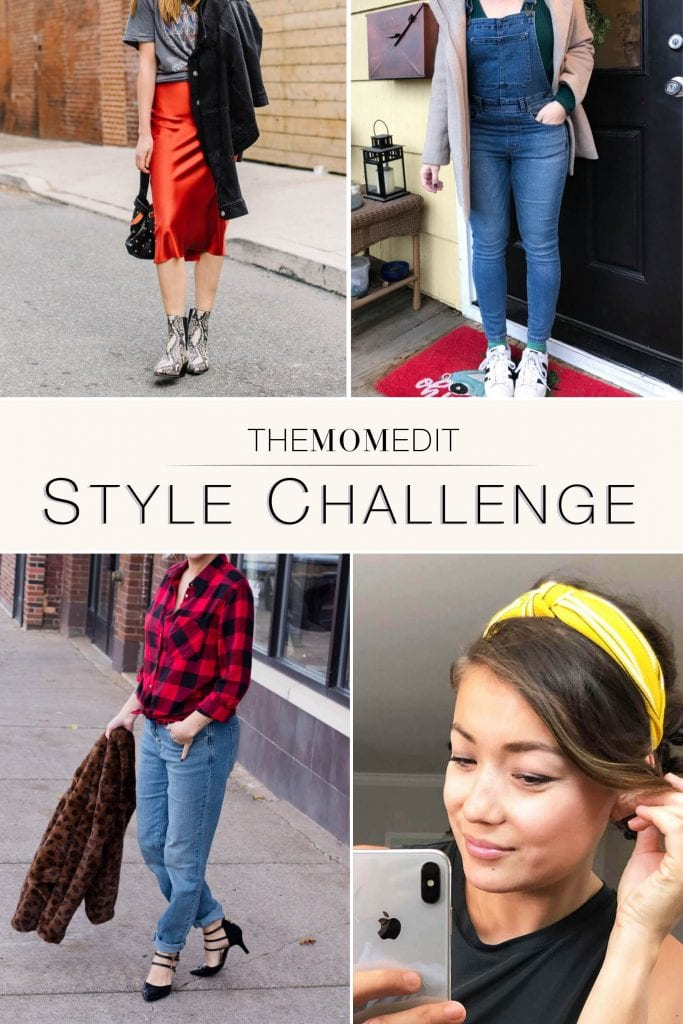 Our winter outfit gift to you: the reader style challenge! Existing closet + overalls, headbands, flannel shirts & slip dresses. It's both 90s & modern. Let's go.