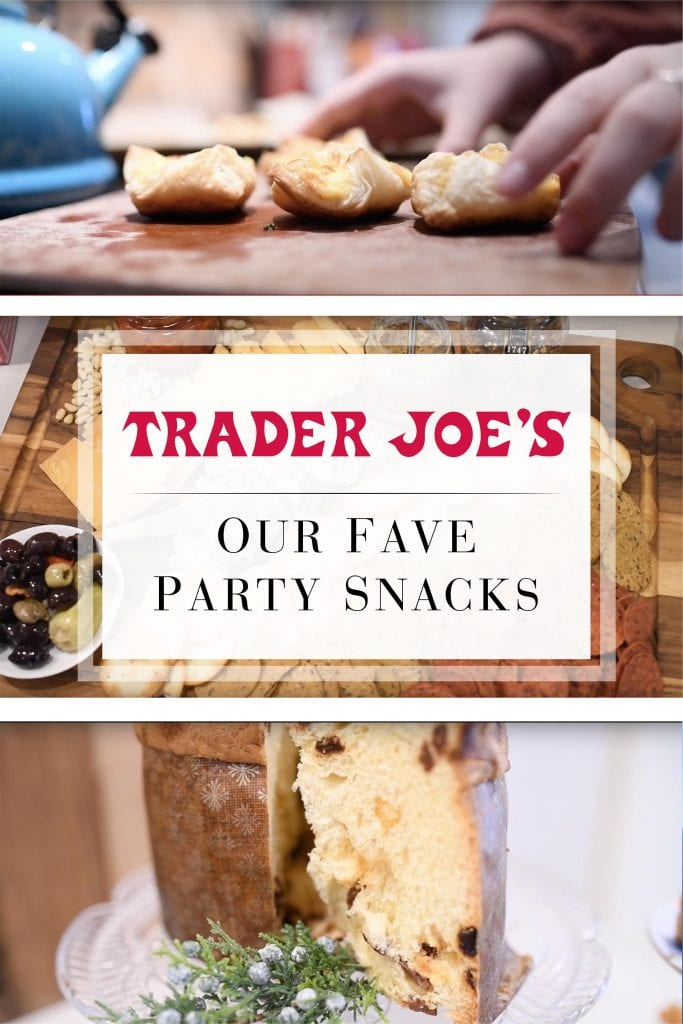 What's good at Trader Joe's? Holiday party snacks. For last-minute party prep or a hostess gift...these easy Trader Joe's must-haves are also delish.