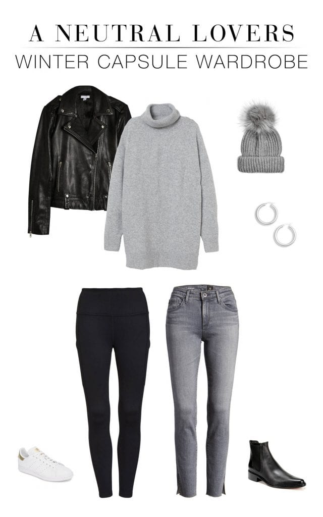 We're embracing all the neutral aesthetic lovers & styling a minimalist capsule wardrobe w/ all the grey, black & white winter outfit ideas. Layers, people.