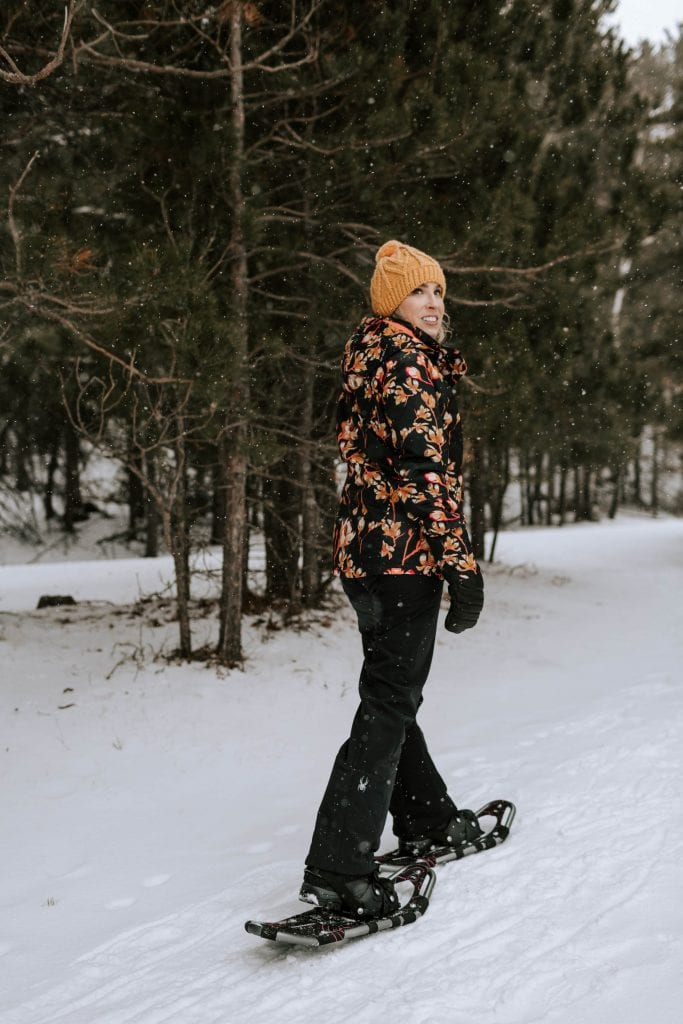 "We're trying snowshoeing! Backcountry believes even ""indoor"" girls can enjoy outdoor experiences. Maybe it's a Sign From The Universe. Here's what to wear."