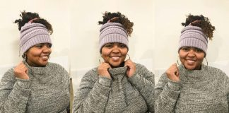 We've found the best winter hats & headwear options for curly hair: messy bun beanies, earmuffs, headbands + chenille & faux fur. Down w/ the frizz!