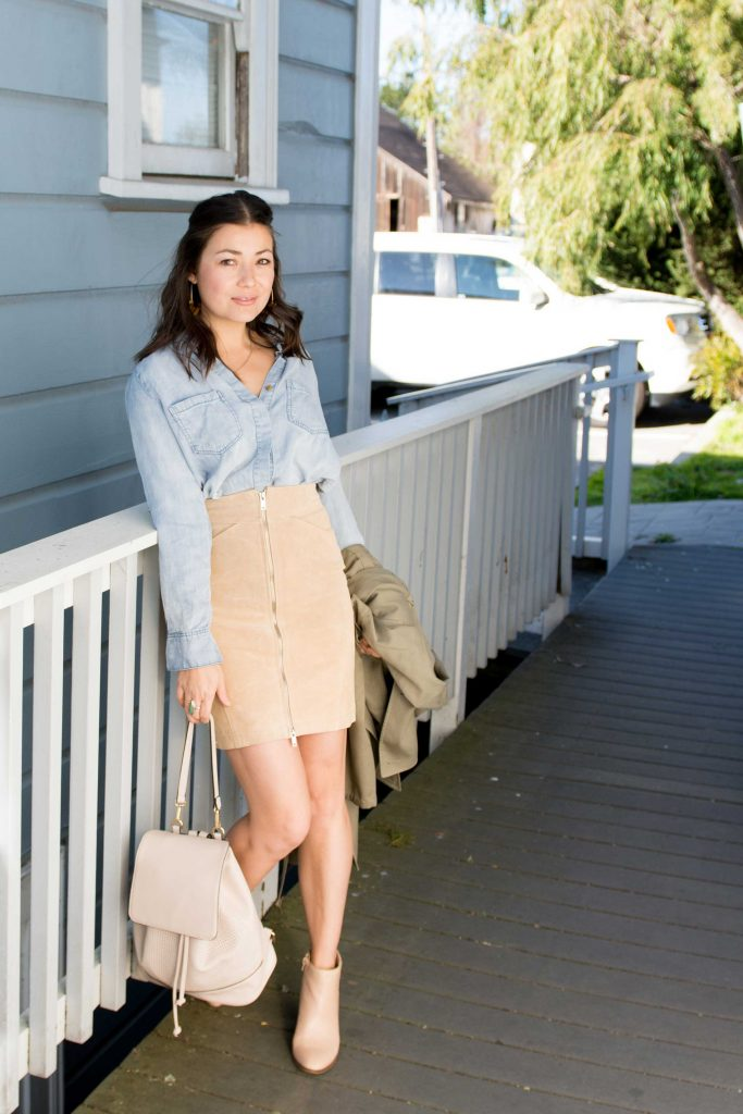 We're obsessed with reintroducing taupe to our outfits. We've got 2 key ideas for keeping this neutral color from feeling too...school uniform-y...inside.