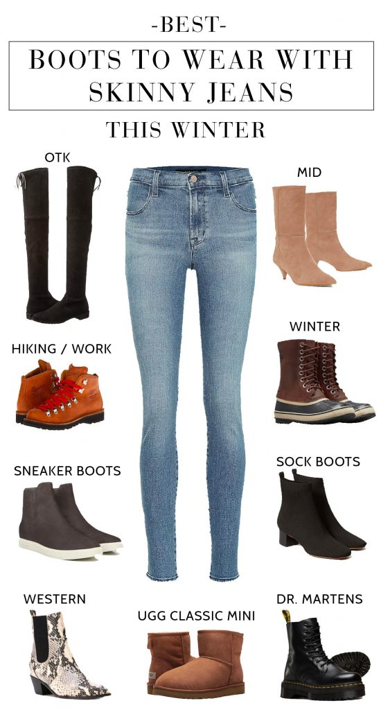Born to be worn w/boots, skinny jeans SHINE in winter. Because Real Life Limitations + trends, here's our top 10 list of best boots to wear w/ skinny jeans.