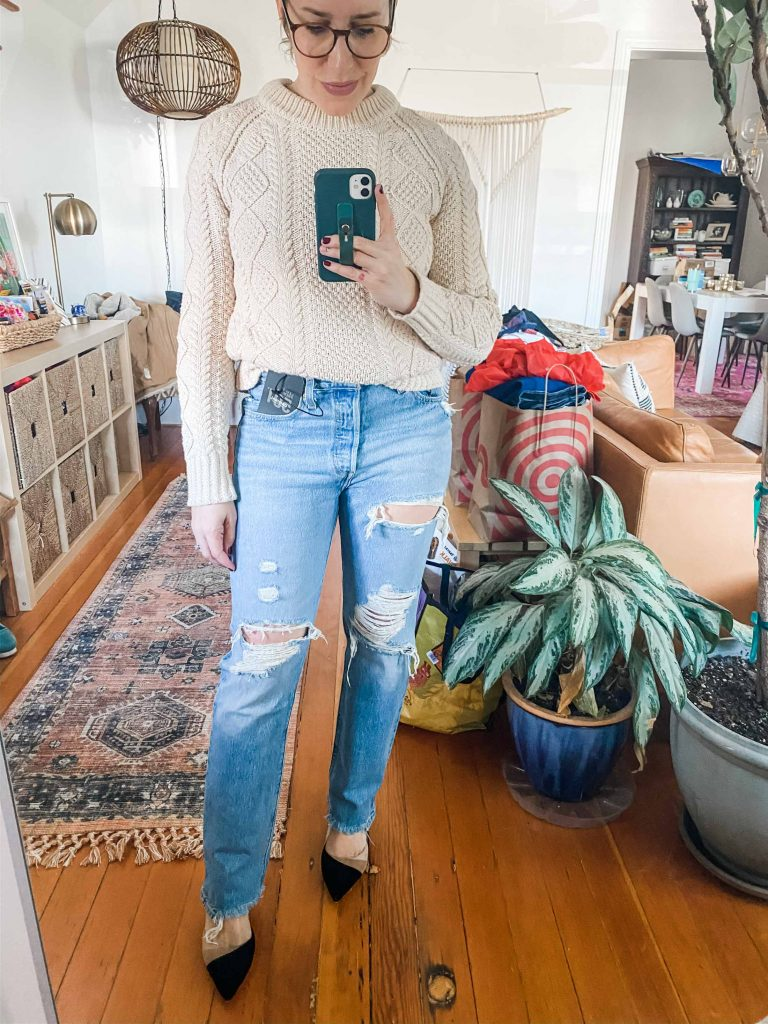 High-rise, distressing, faded washes, stretch denim — we found 5 cool pairs of blue jeans to bring in the spring. Levi's, MOTHER, Madewell...let's shop!