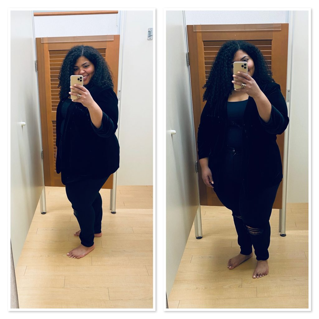 We found an incredible plus-size workout section + amazing blazers & jackets. Totally recommend Kohl's for cute, affordable plus-size fashion! See it here.