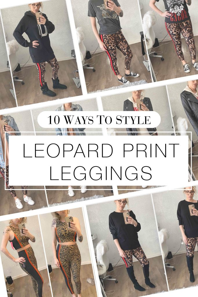 Leopard print leggings — they're not just for the gym. For a l'il minimalist wardrobe insp, we're styling animal print leggings 8 ways for every day. Leather jackets, OTK boots, graphic tees & sweaters...