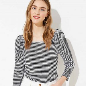 Top Mission For Spring: Find perfect striped shirts for cute outfit inspo. We found it all from rainbow striped long-sleeve shirts to oversized striped tops. We❤️these 10.