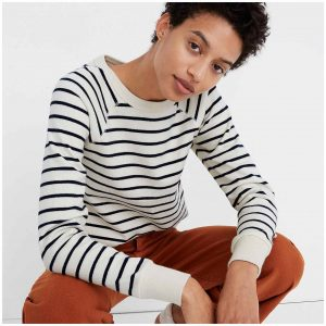 Black jeans, striped tops, boxy sweaters & playful tunics...we've narrowed down our most-worn, capsule-wardrobe-worthy winter outfit pieces to 12. See here.