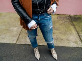 Cropped jeans are tricky to style — especially in cold weather. See how we're wearing high-shaft ankle booties & combat boots to solve outfit woes.