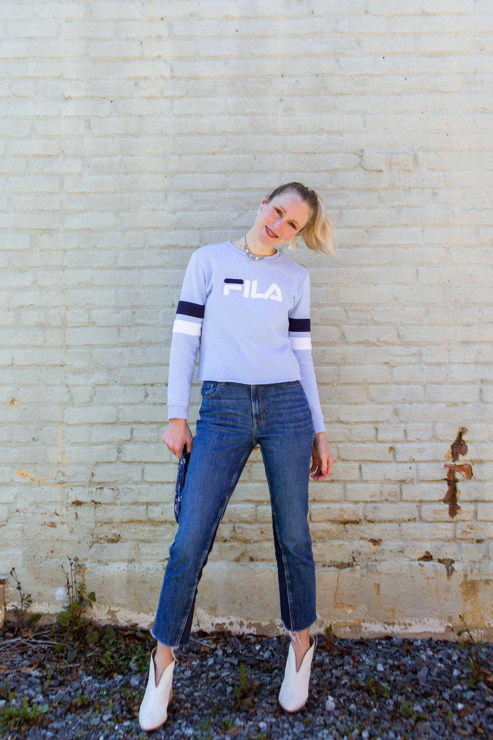 That FILA sweatshirt from Costco? It needed The Scissor Life. Cropped sweatshirts are life-changing. A bold statement, we know. Get ya'self one.