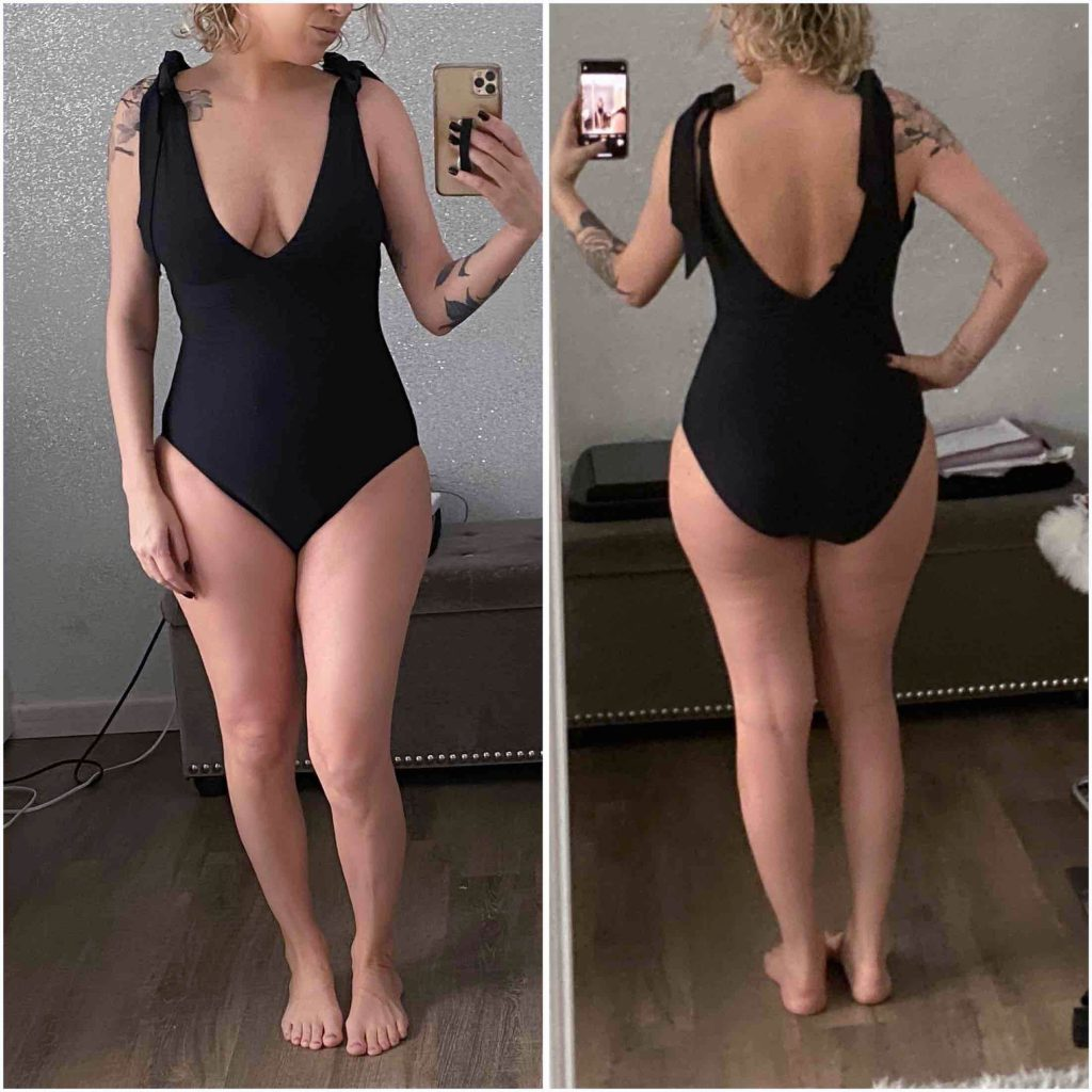 J. Crew's 1- & 2-piece swimsuits are awesome: flattering, comfy, well-made. Serious quality & usually on sale...We tried on 9 bathing suits & they are GOOD.