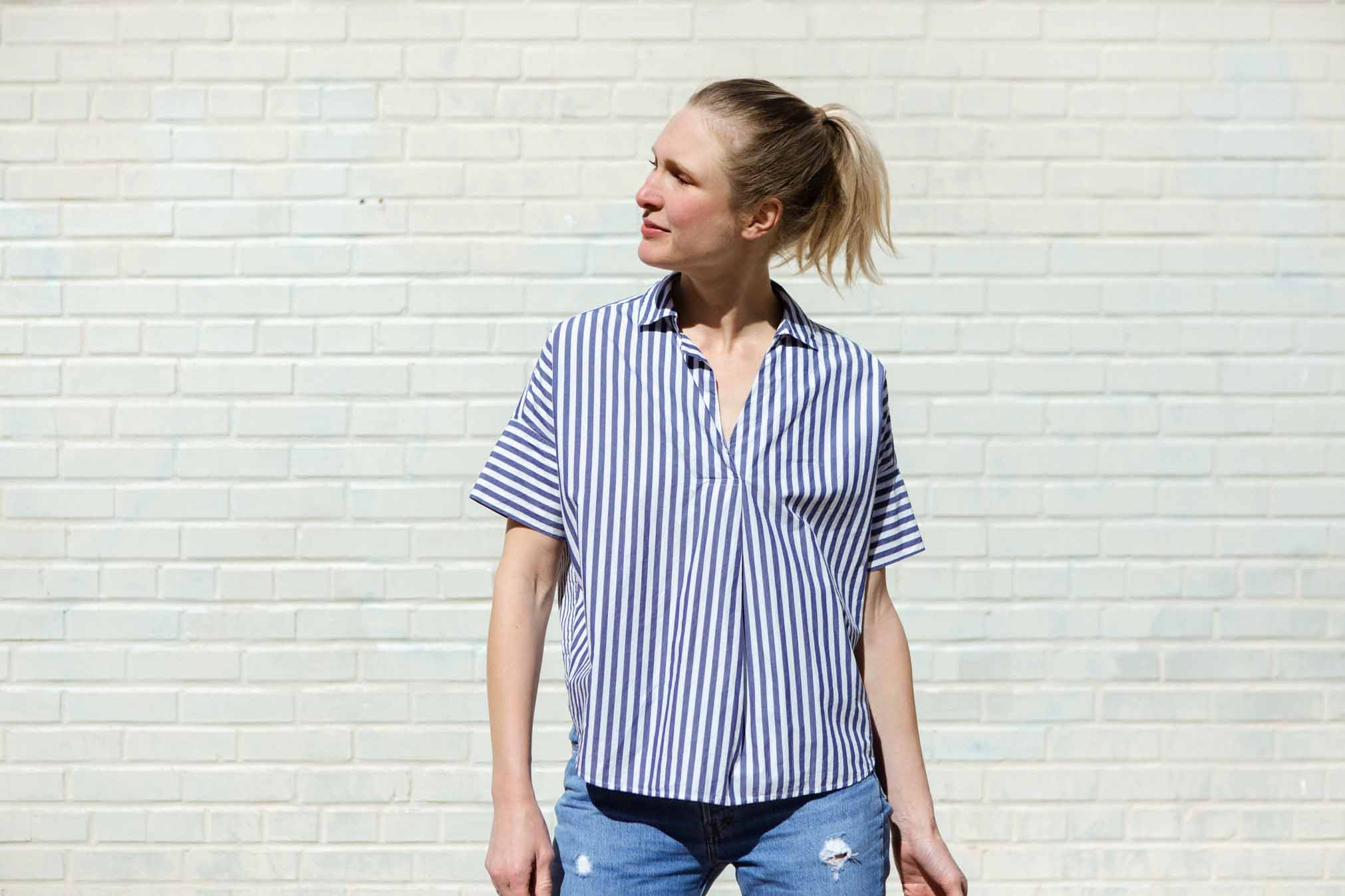 We wanted to wear this Madewell top for spring, but now we'll don it for Zoom video calls, virtual meetings, online book clubs...Maybe we'll even add heels...why the F not?.