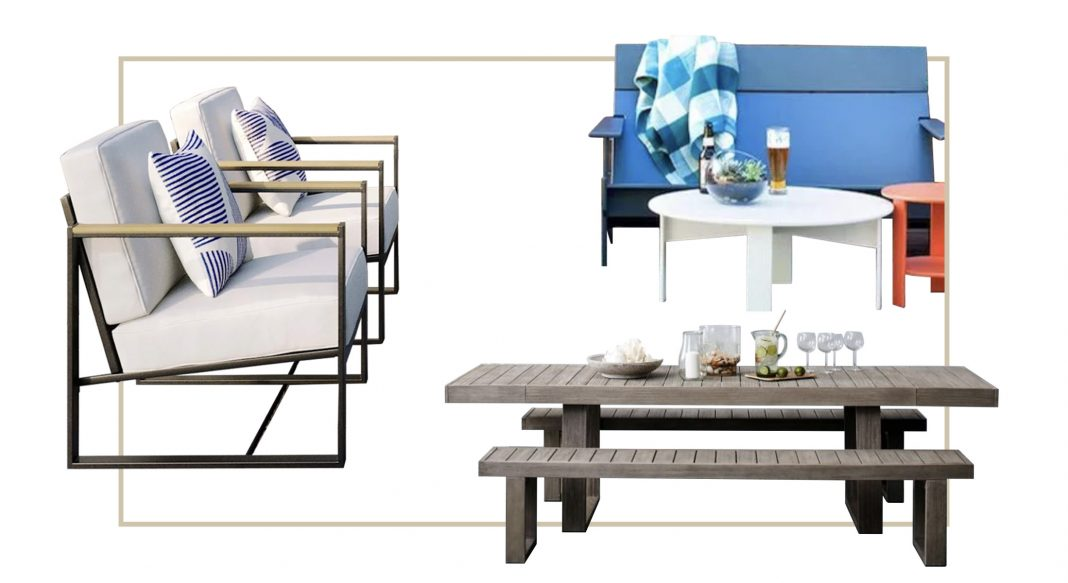Our 5 fav lines of outdoor furniture — easy to order, online. Comfy, strong quality, of renewable or sustainable materials—patio & dining sets that last.