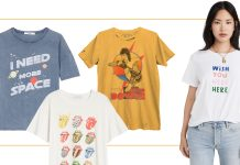 We're reaching for cool black & white t-shirts more than ever. Fun, trendy graphic designs are outfit-making right now (& smile-inducing). Here are 11 faves.