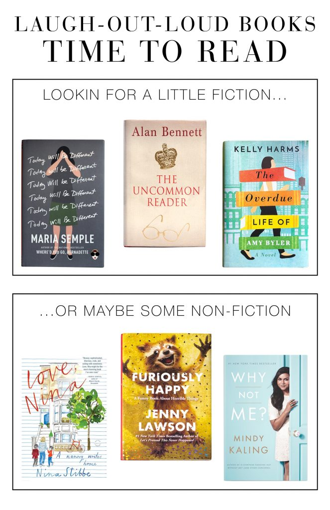 Novels or non-fiction, we've got 6 book recommendations to help cope with alllll the feelings. All are laugh-out-loud funny—to take the edge off this whole social distancing thing.