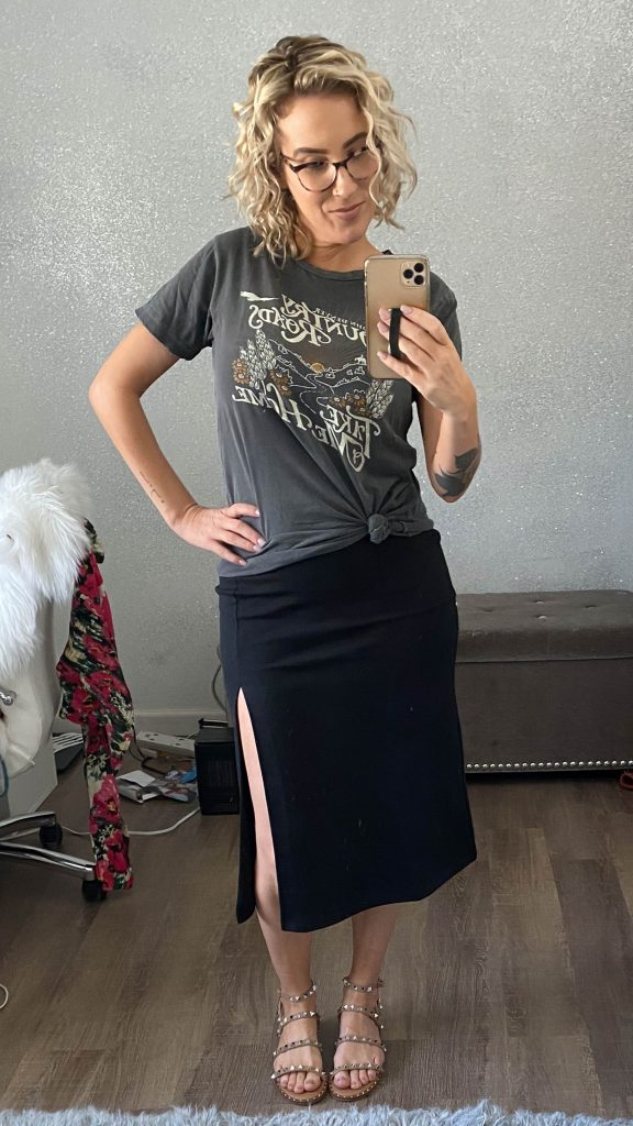 We bought a little black midi tank dress...Sexy. Cute. Classy. Casual. We found 20 —yes, 20 outfit ideas to dress it up & dress it down. Let's play!