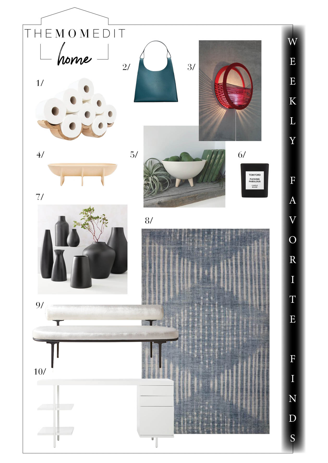 Our weekly favorite finds in home decor include pretty Pinterest-worthy finds (toilet paper holder wall art, anyone?) & some home office escapism. Plus, all the sales.