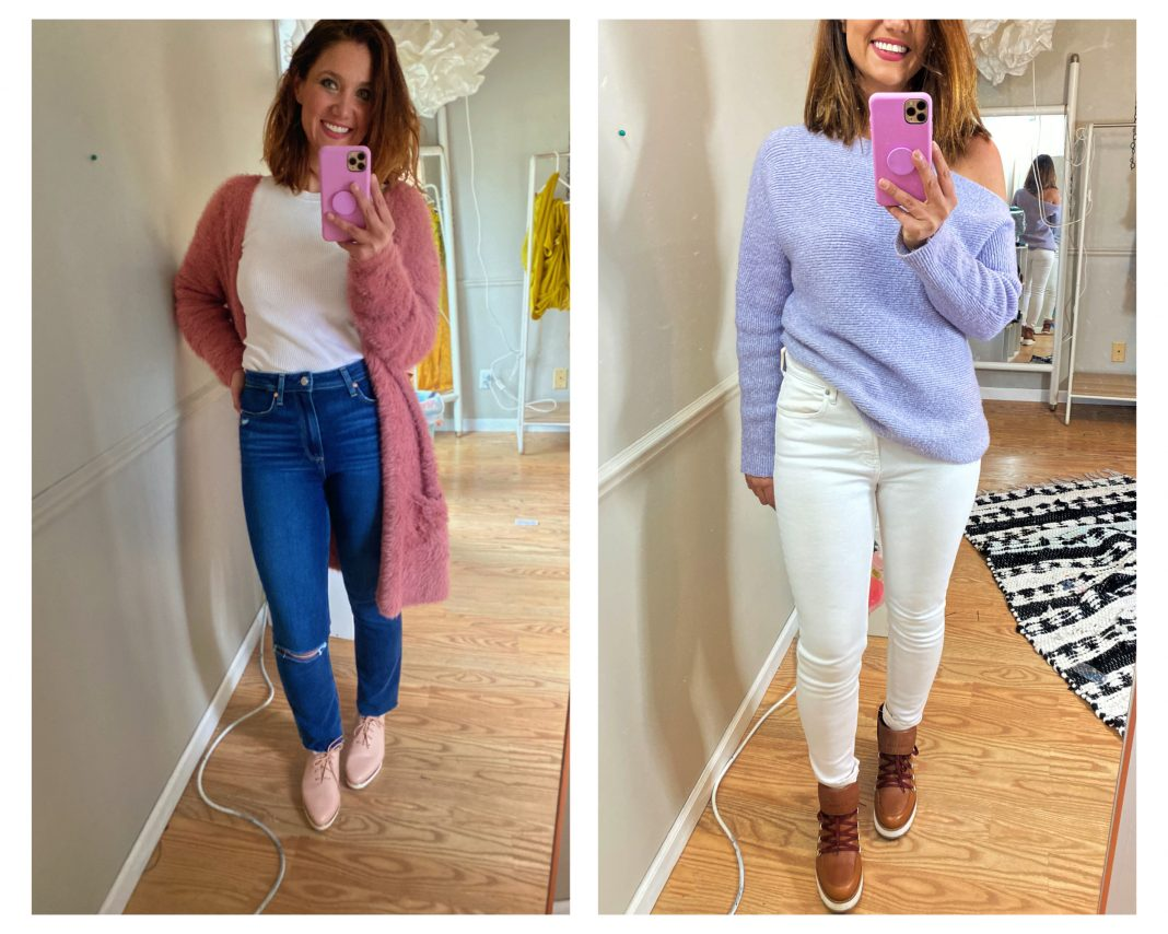 In light of some social distance distraction: my most-worn Nordstrom sale finds, think flattering PAIGE jeans, cozy knit sweaters & Cole Haan shoes.