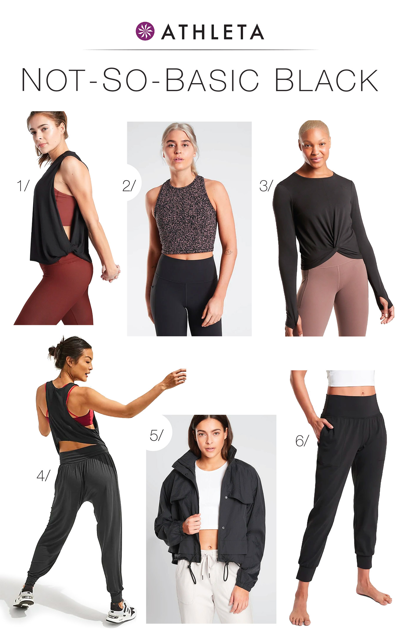 Fresh fitness gear upgrades that aren't old purple sweats?! We're in. Athleta's cute at-home workout outfits take us from yoga to sweaty cardio sessions & beyond.
