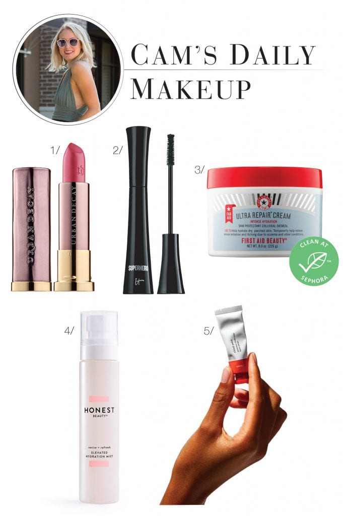 What makeup are we really wearing on the daily (if any)? An exciting shopping list of TME editors' routine beauty products (skincare, concealer, blush, etc.,).