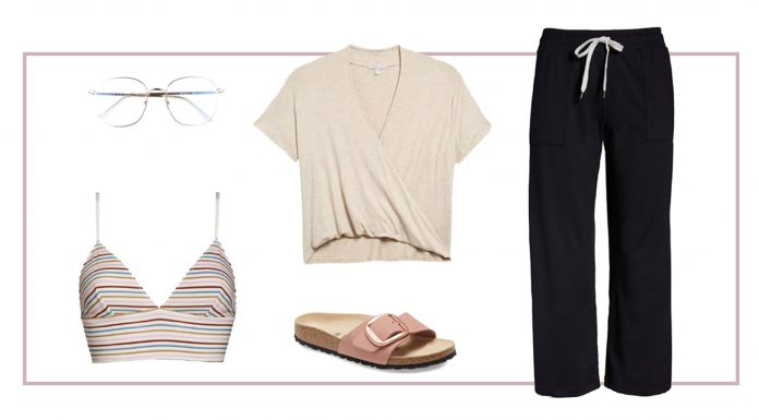 It's our #StayAtHome edition of paper dolls (aka Nordstrom looks). We're styling 5 pieces, 2 ways: comfy loungewear outfits now + cute summer outfits for later. Think spring capsule wardrobe.