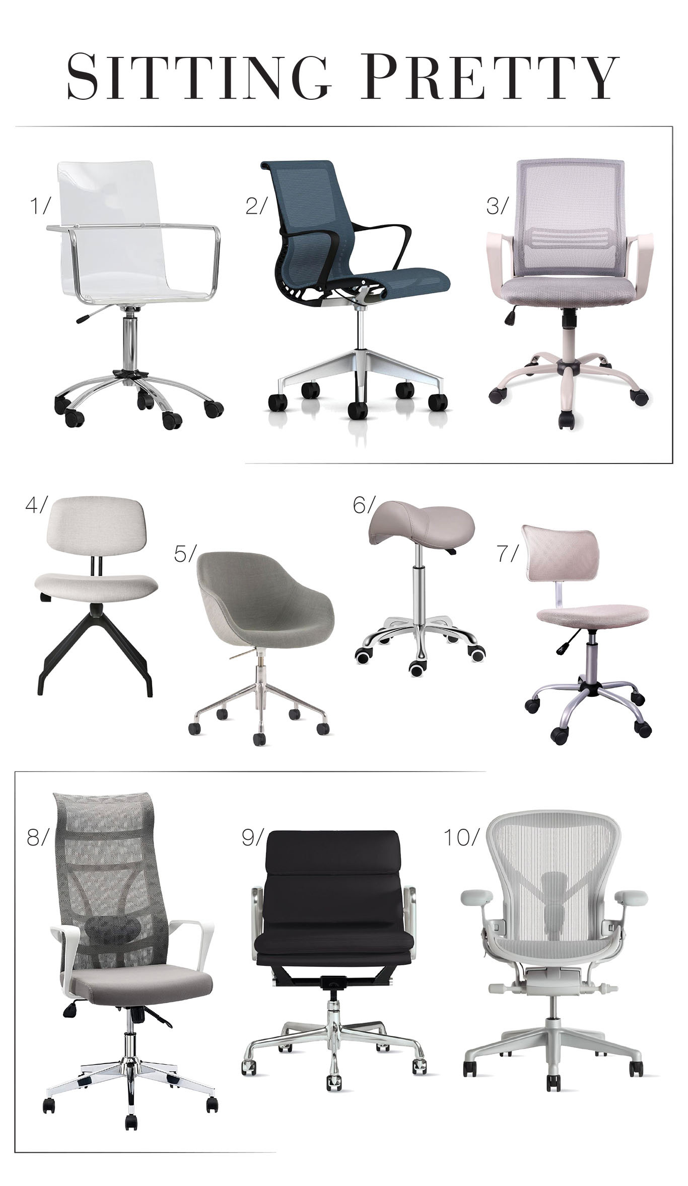 Home Office Refresh Ii 10 Stylish Chairs That Work For Better Posture The Mom Edit